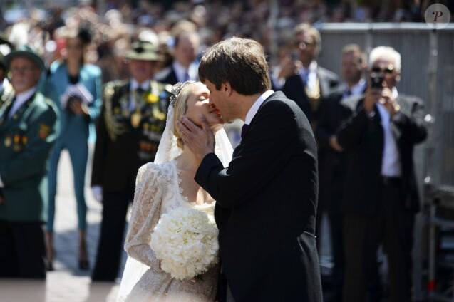 Le prince Ernst August de Hanovre (Jr.) lors de son mariage religieux avec Ekaterina Malysheva à l'église Marktkirche à Hanovre, en Allemagne, le 8 juillet 2017.
