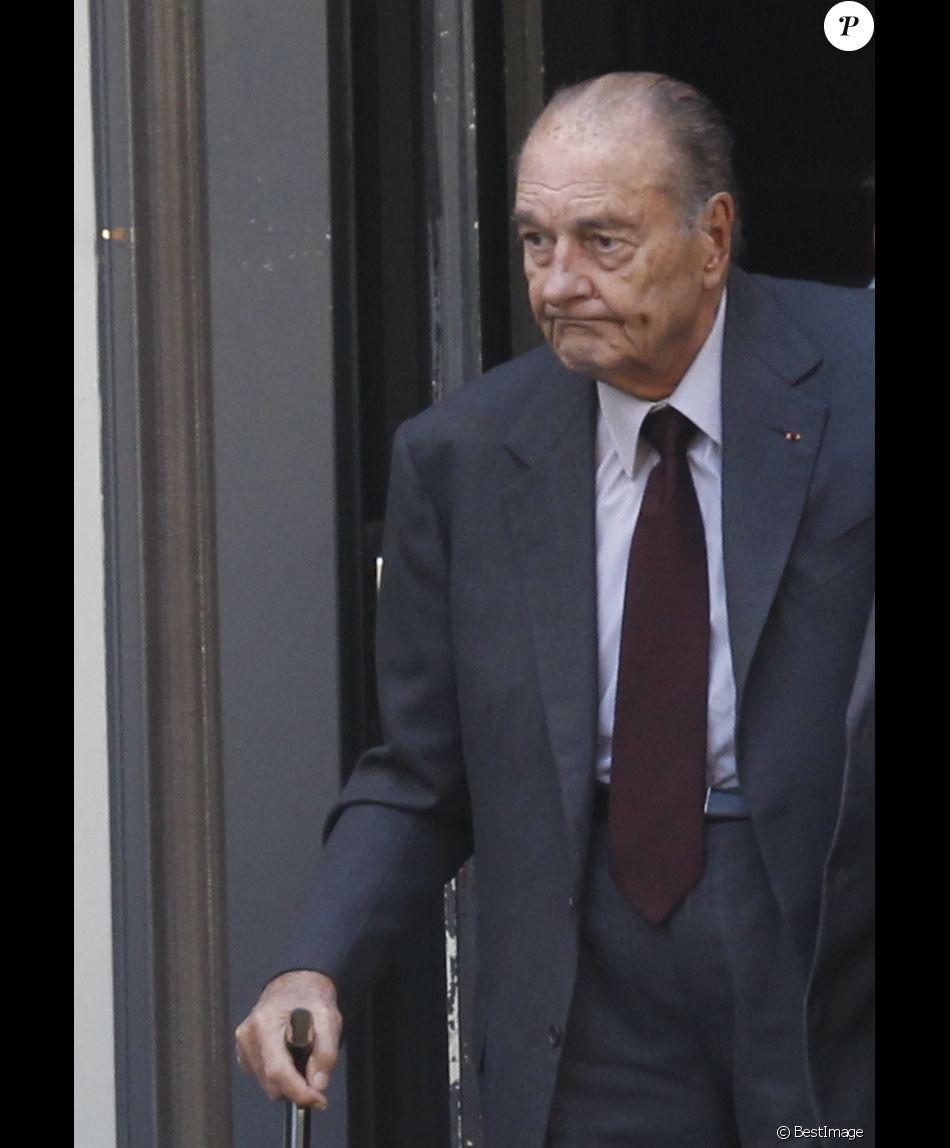Jacques Chirac à Paris le 4 octobre 2014.