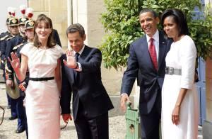 Entre les Obama et les Sarkozy, c'est un jeu de mains...