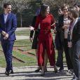 La reine Letizia et le roi Felipe VI d'Espagne avaient le 21 mars 2019 une réunion avec des experts scientifiques au palais du Pardo à Madrid sur la recherche scientifique espagnole.