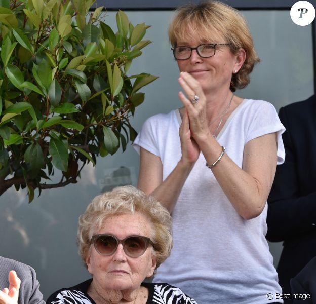 Bernadette Chirac et sa fille Claude, à Brive-la-Gaillarde, le 8 juin 2018.