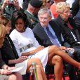 Michelle Obama hier en Normandie en compagnie de Carla Bruni et de Sarah Brown