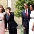 Barack et Michelel Obama hier en Normandie