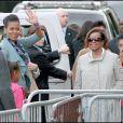 Michelle Obama et ses filles lors de leur visite de la Tour Eiffel