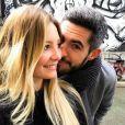 Emma et Florian (Mariés au premier regard 2) lors de leur escapade en amoureux à Londres en janvier 2018.