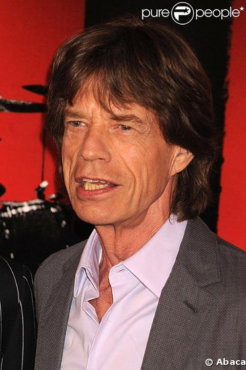 Mick Jagger en mars 2008
