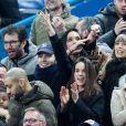 Emmanuel Levy dit Manu Levy, Valérie Bègue (Miss France 2008), Vianney et sa compagne Catherine Robert, Mélanie Page - People assistent au match des éliminatoires de l'Euro 2020 entre la France et l'Islande au Stade de France à Saint-Denis le 25 mars 2019. La france a remporté le match sur le score de 4-0.