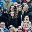 Emmanuel Levy dit Manu Levy, Vianney et sa compagne Catherine Robert, Valérie Bègue (Miss France 2008), Nagui et sa femme Mélanie Page - People assistent au match des éliminatoires de l'Euro 2020 entre la France et l'Islande au Stade de France à Saint-Denis le 25 mars 2019. La france a remporté le match sur le score de 4-0.