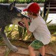 Amélie Mauresmo publie une photo de son fils Aaron qui l'accompagne en Australie. Instagram, le 28 décembre 2018.