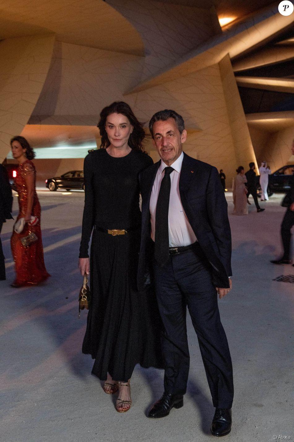 Nicolas Sarkozy et Carla Bruni-Sarkozy - Soirée d'inauguration du Musée National du Qatar. Doha, le 27 mars 2019.
