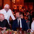L'architecte Jean Novel, Alain Ducasse et Edouard Philippe - Soirée d'inauguration du Musée National du Qatar. Doha, le 27 mars 2019.
