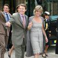 Le prince Constantijn et la princesse Laurentien visitent l'exposition consacrée au centenaire de la naissance de feue la reine Juliana