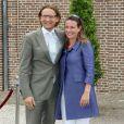 Le price Bernhard et la princesse Annette visitent l'exposition consacrée au centenaire de la naissance de feue la reine Juliana