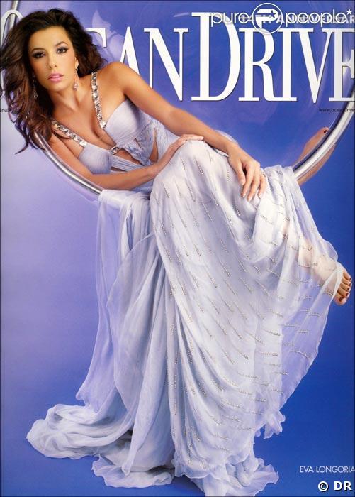 Eva Longoria en couverture d'Ocean Drive