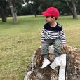 Josh, le fils aîné de Tony Parker et sa femme Axelle, photo Instagram du 29 avril 2017 pour son premier anniversaire.