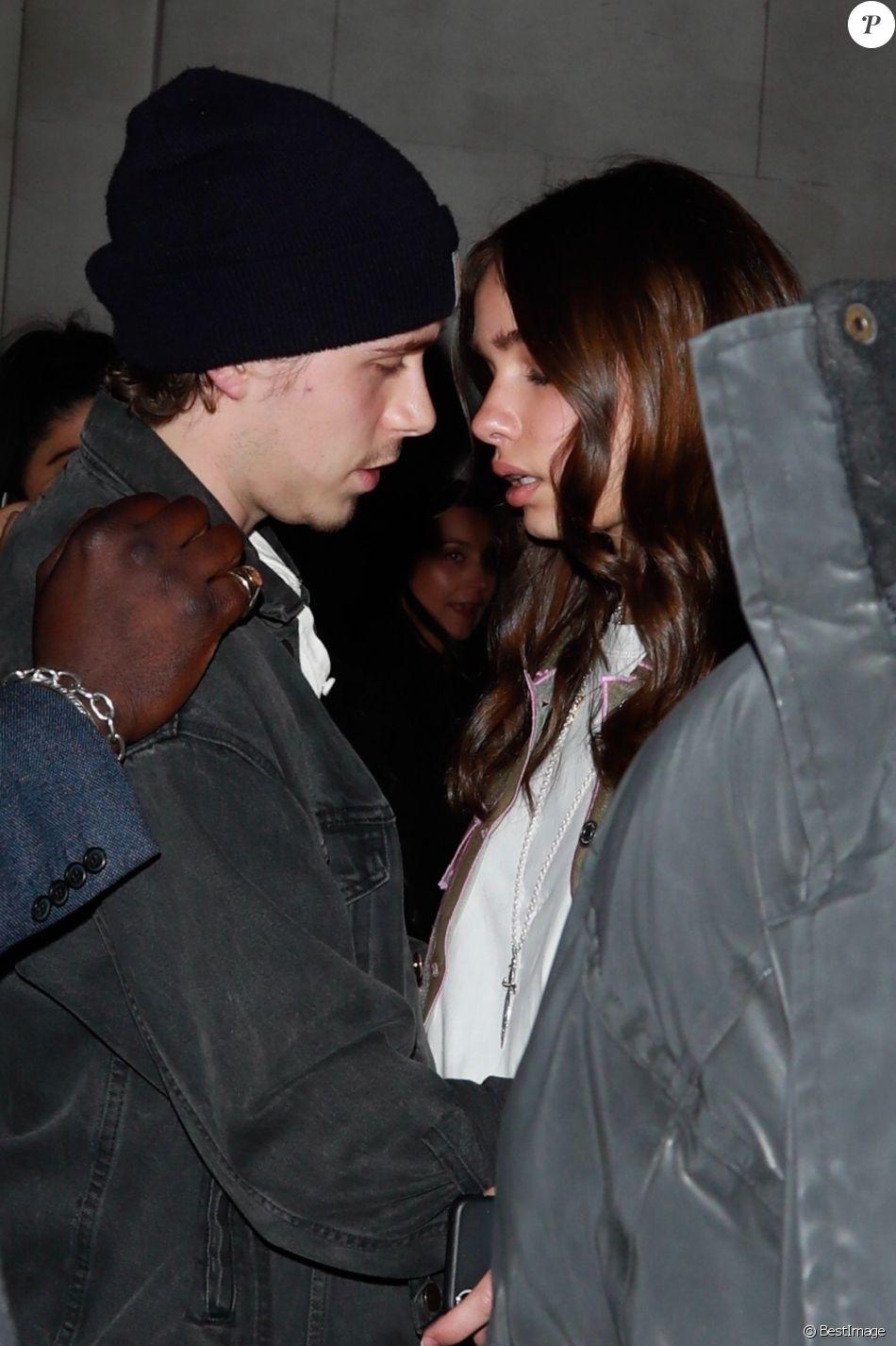 """Brooklyn Beckham et sa compagne Hana Cross ont assisté à la soirée de lancement d'""""A Technicolour Odyssey"""" par Pat McGrath à la """"Brasserie of Light"""", au grand magasin Selfridge's. Londres, le 4 avril 2019."""