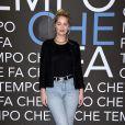 """Marie-Ange Casta - Enregistrement de l'émission """"Che Temp Che Fa"""" à Milan en Italie le 7 avril 2019"""
