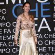 """Laetitia Casta - Enregistrement de l'émission """"Che Temp Che Fa"""" à Milan en Italie le 7 avril 2019"""