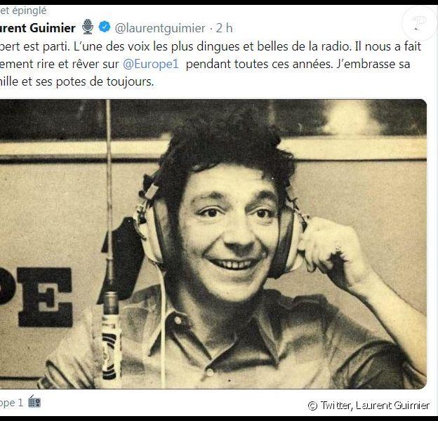 Laurent Guimier, vice PDG d'Europe 1, a annoncé la mort d'Hubert Wayaffe sur Twitter le 13 avril 2019.