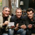 Alexandre Fabre, Serge Dupire et Franck Borde lors du lancement du jeu  Plus Belle La Vie  sur la Nintendo DS  !