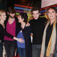 Rebecca Hampton, Laurent Kerusore, Hélène Médigue, Franck Borde et Alexandre Fabre.  Plus Belle La Vie , plus qu'une série... une vraie petite famille !