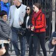 Exclusif - Catherine Zeta-Jones, ses parents (David Jones et Patricia Fair) et sa fille Carys et une amie sont allées visiter la cathédrale Notre-Dame de Paris le 12 mars 2019