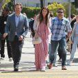 Chris Pratt s'est rendu avec sa fiancée Katherine Schwarzenegger et son fils Jack Pratt à l'église à l'occasion de la messe Pascale à Santa Monica. Le 21 avril 2019.