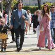 Chris Pratt s'est rendu avec sa fiancée Katherine Schwarzenegger et son fils Jack Pratt à l'église à l'occasion de la messe Pascale à Santa Monica. Jack, le fils de Chris issu de son ancien mariage avec A. Faris est en garde partagée. Il a passé la journée avec son père et sa future belle-mère, le 21 avril 2019.