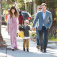 Chris Pratt s'est rendu avec sa fiancée Katherine Schwarzenegger et son fils Jack Pratt à l'église à l'occasion de la messe Pascale à Santa Monica. Jack, le fils de Chris issu de son ancien mariage avec A. Faris est en garde partagée. Il a passé la journée avec son père et sa future belle-mère, le 21 avril 2019. V