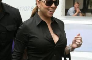 Mariah Carey est arrivée à Londres... Entre son décolleté et ses valises, elle n'est pas venue toute seule !
