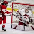 L'équipe féminine de hockey sur glace de Harvard. 2019.