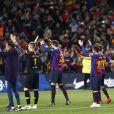 Le FC Barcelone a fêté son 26e titre de champion d'Espagne le 27 avril 2019 au Camp Nou après la victoire (1-0) contre Levante.