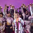 """Pink lors de la cérémonie des """"Brit Awards 2019"""" à l'O2 Arena à Londres, le 20 février 2019."""