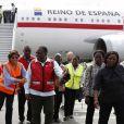 La reine Letizia d'Espagne à l'aéroport de Beira lors de sa visite officielle au Mozambique le 30 avril 2019