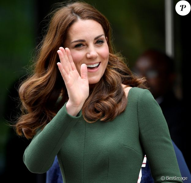 Kate Catherine Middleton, duchesse de Cambridge, à la sortie du Centre d'Excellence Anna Freud à Londres. Le 1er mai 2019