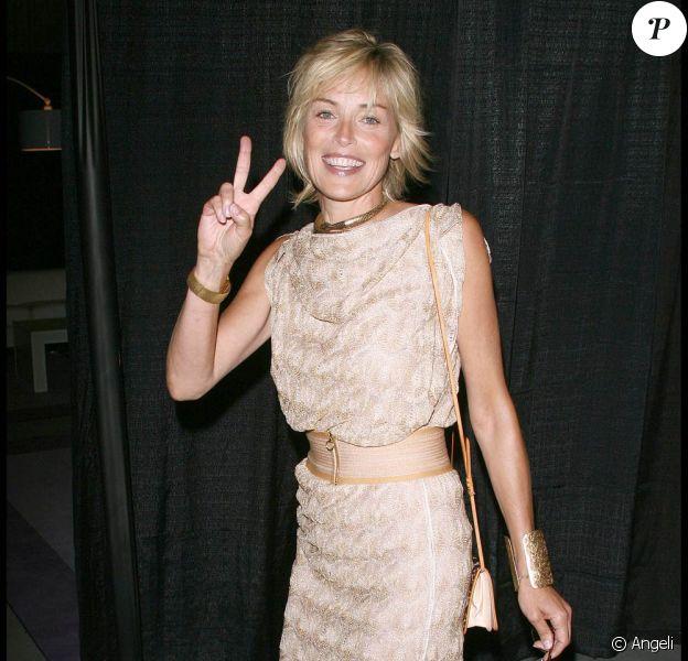 Sharon Stone à la soirée Rock'n Reel, à Culver City, hier