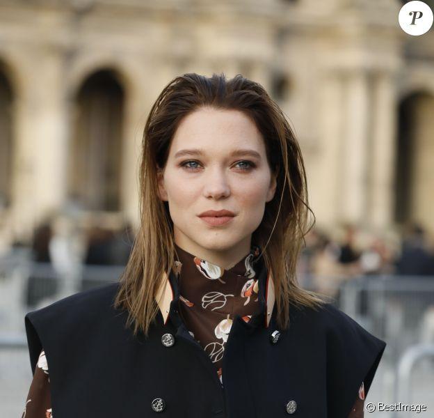 Léa Seydoux - Arrivée au défilé Louis Vuitton collection prêt-à-porter Automne-Hiver lors de la fashion week à Paris, le 5 mars 2019. © Veeren/CVS/Bestimage