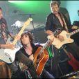 EXCLU - Robin Le Mesurier, Philippe Uminski et Johnny Hallyday - Concert à Monaco, le 22 juillet 2009.