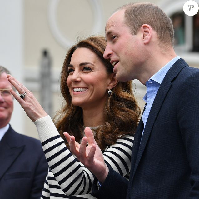Le prince William, duc de Cambridge, et Kate Catherine Middleton, duchesse de Cambridge, au lancement de la King's Cup, une régate qui se déroulera au mois d'août sur l'île de Wight, à Londres. Le 7 mai 2019 On may 7th 2019.
