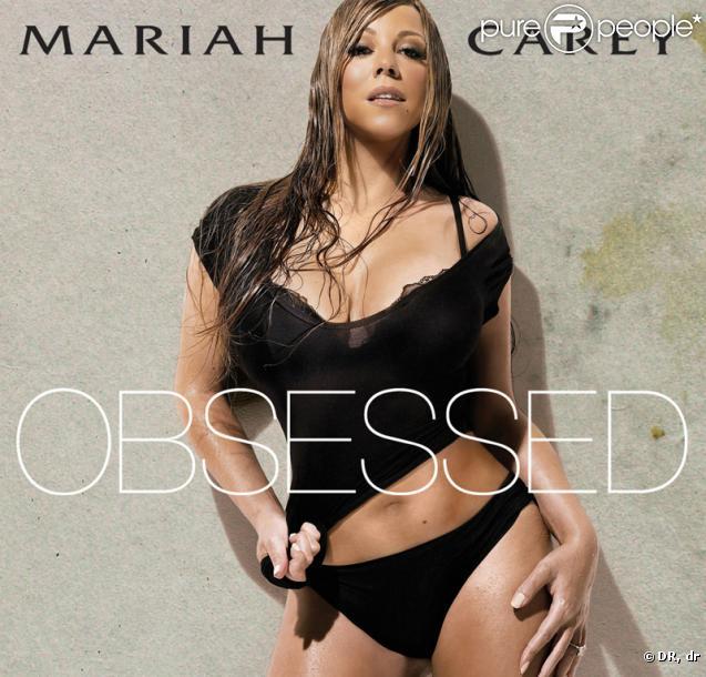 La pochette d' Obsessed , le nouveau single de Mariah Carey