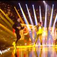 """Arezki et Geoffrey lors du prime de """"The Voice 8"""" du 18 mai 2019, sur TF1"""