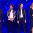 """L'équipe de Jenifer lors du prime de """"The Voice 8"""" du 18 mai 2019, sur TF1"""