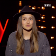 "Laureen lors du prime de ""The Voice 8"" du 18 mai 2019, sur TF1"