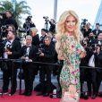 """Victoria Silvstedt monte les marches du film """"Rocketman"""" lors du 72e Festival International du Film de Cannes. Le 16 mai 2019 © Borde / Bestimage"""