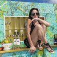 Exclusif - Sandra Sisley lors d'un brunch Kjacques à la terrasse Sandra & Co lors du 72ème Festival International du Film de Cannes. Le 16 mai 2019. © Pierre Perusseau / Bestimage