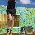 Exclusif - Sandra Sisley - Brunch Kjacques à la terrasse Sandra & Co lors du 72ème Festival International du Film de Cannes. Le 16 mai 2019. © Pierre Perusseau / Bestimage 16/05/2019 - Cannes
