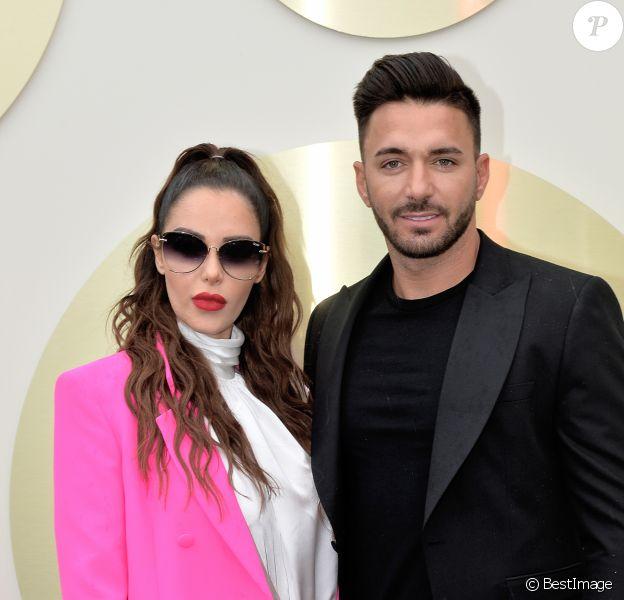 Nabilla Benattia et son mari Thomas Vergara - Nabilla Benattia présente sa collaboration pour les lunettes Quay Australia sur la plage Magnun lors du 72ème Festival International du Film de Cannes, le 18 mai 2019. ©Veeren / Bestimage