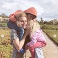 Elodie Gossuin et ses enfants au Maroc, le 18 février 2019.