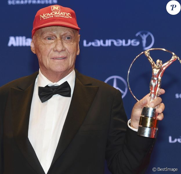 "Niki Lauda - Célébrités lors du ""Laureus World Sports Awards 2016"" à Berlin le 18 Avril 2016."