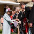 La reine Elisabeth II d'Angleterre lors de la garden-party royale de Buckingham Palace. Londres, le 21 mai 2019.